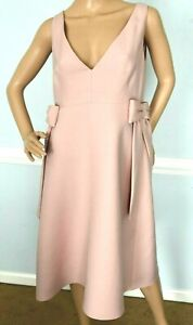 3-690-00-VALENTINO-Bow-Side-Rose-Poudre-Pink-Crepe-Couture-Dress-IT-44-US-8