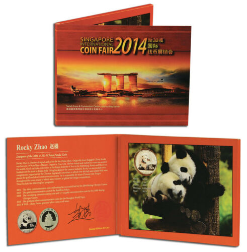 China Panda 2014 1 oz .999 Silverwith Exclusive Packaging Signed by Designer