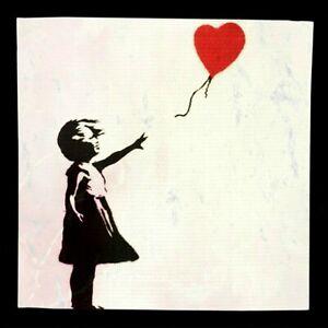 Motiv Girl with Baloon XXL100x100 Leinwand 2 cm PopArt//Malerei//Druck//Street Art