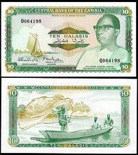 GAMBIA 10 DALASIS (P10a) N. D. (1987) UNC