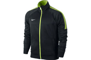 45f94dfe Nike Mens Black Volt Yellow Team Club Trainer Jacket Track Top Size ...