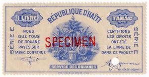 I-B-Haiti-Revenue-Tobacco-Duty-1lb-ABN-Specimen