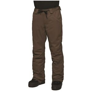 2018-NWT-MENS-THIRTYTWO-WOODERSON-SNOW-PANTS-brown-mid-fit