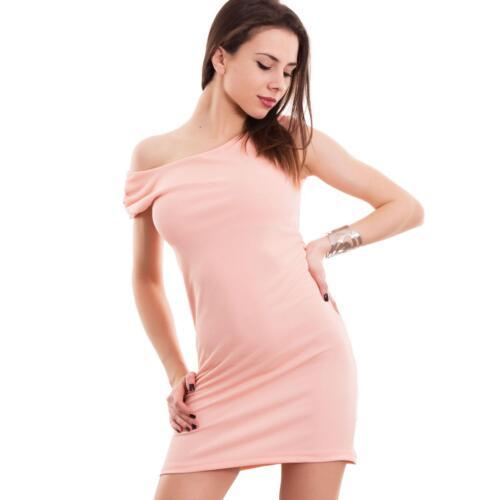 Vestito donna miniabito corto tubino abito ancheggio elasticizzato nuovo AS-8216
