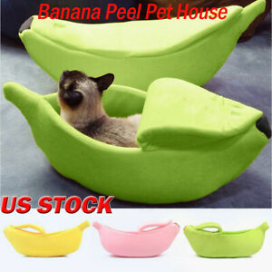 Pet-Cat-Dog-Puppy-Warm-Nest-Bed-Banana-Shape-Fluffy-Cave-House-Sleeping-Bags-Q
