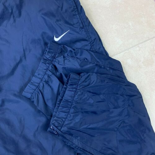 Vintage 90s Nike Essential Zipper Trackpants Navy