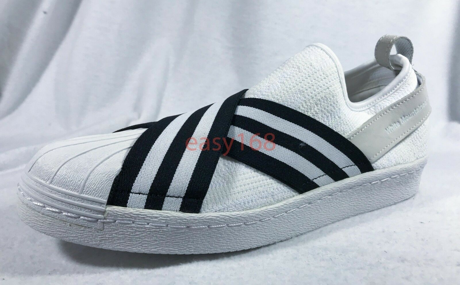 New Adidas Superstar Black Slip On Sz 10.5 Men's BY2881 Black Superstar White Mountaineering 29ff90