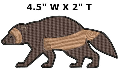 Sew-On Decorative Clothing Gear Applique Cute Badger Embroidered Patch Iron