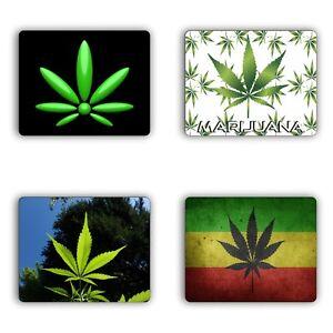 Marijuana Leaf Collage Mouse Pad Gaming Mousepad PC Laptop Computer Weed Pot