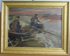 "Ludwig Dettmann 1865 - 1944 ""Coming ashore"" Ölgemälde, 1912"