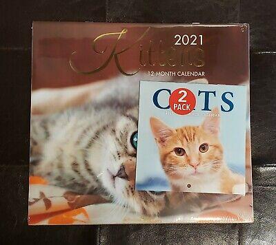 2021 - Kittens Wall Calendar PLUS - Cats Mini Calendar ...