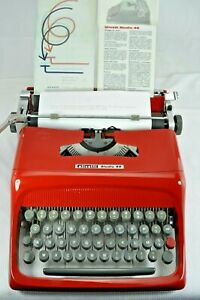 MACCHINA-DA-SCRIVERE-OLIVETTI-STUDIO-44-TYPEWRITER-RED-1-Serie-235260