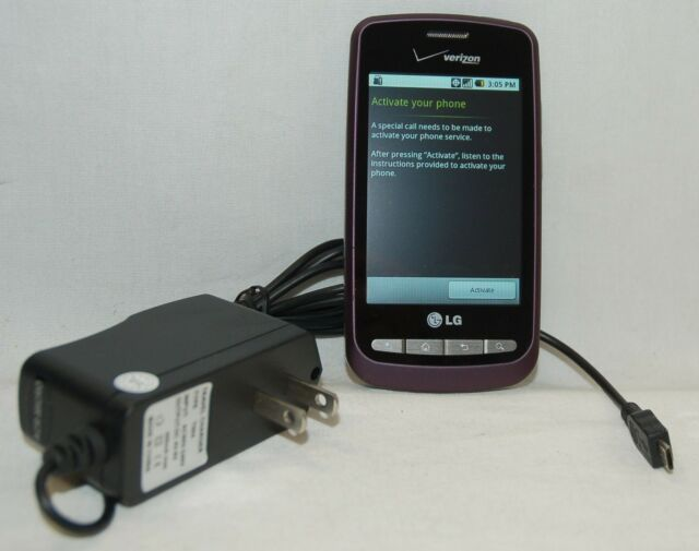 LG Vortex VS660V Verizon Wireless Cell Phone VIOLET Android Smartphone WiFi -B-