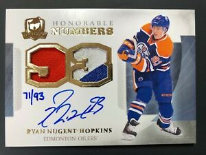 2013-14-Upper-Deck-The-Cup-Ryan-Nugent-Hopkins-Honorable-Numbers-Auto-93