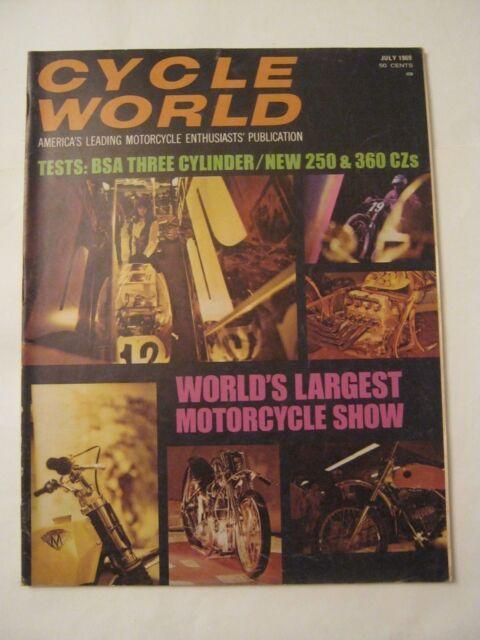 July 1969 Cycle World Magazine  (BD-68)