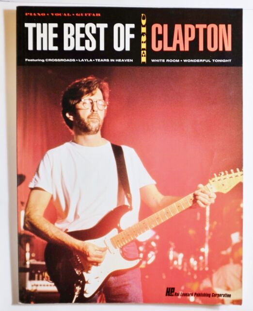 The Best of Eric Clapton Piano Sheet Music Guitar Chords 30 Songs Book