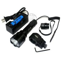 Ultrafire Tactical C8 18650 Cree Xm-l L2 Led Flashlight + Remote Switch Mount