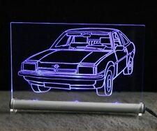 Opel Manta als AutoGravur auf LED Leuchtschild