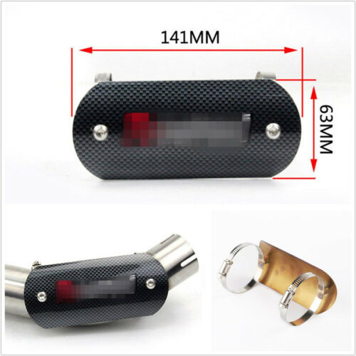 Universal Carbon Fiber Color Steel Motorcycles Heat Shield Protector Cover Guard