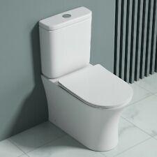 WC Stand SOFT-CLOSE Sitz NEU Bef. bodenstehend geschlossener Spülrand weiss