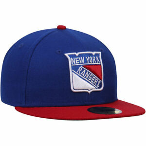 New-York-Rangers-NHL-Eishockey-New-Era-Cap-Kappe-Neu-59fifty-Fitted-Groesse-7-3-8