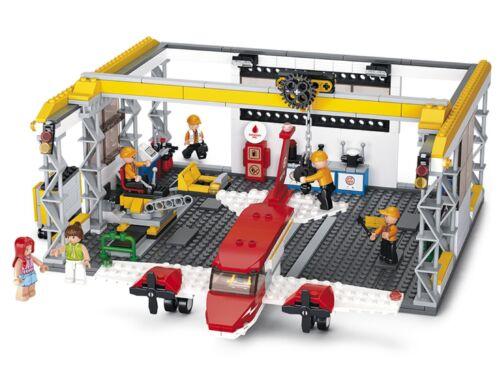 Sluban aircraft hangar avion Garage compatible Building Bricks Set Nouveau