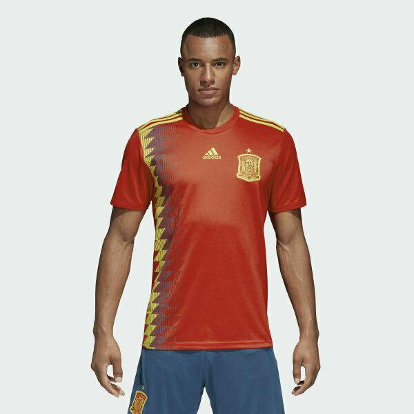 adidas Spain Espana 2018 National Team Home Soccer Jersey Red ...