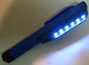 8 LED Lampe Stylo Inspection Torche Poche Eclairage Etanche NEUF