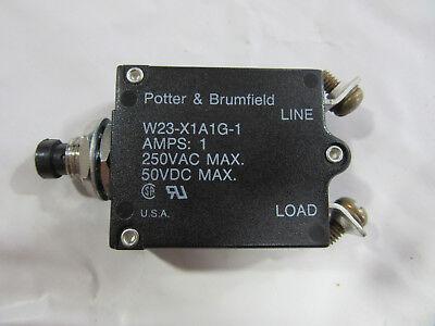 Potter /& Brumfield W23-X1A1G-1 Circuit Breaker 1A 250VAC 50VDC W//Screws NEW!!!