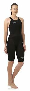 Speedo-Women-039-s-Fastskin-LZR-Racer-Elite-2-Open-Back-Kneeskin-Black-Kneesuits