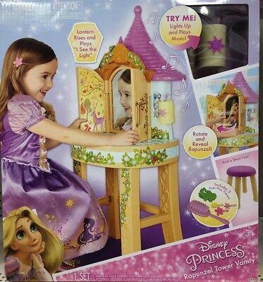 Disney Princess Rapunzel Tower Vanity Toy Set Girls Sing Along Lantern Mirror