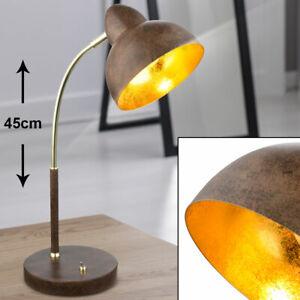 Wohnraumleuchte Industrial LED Vintage Stehlampe messing rost Spots schwenkbar