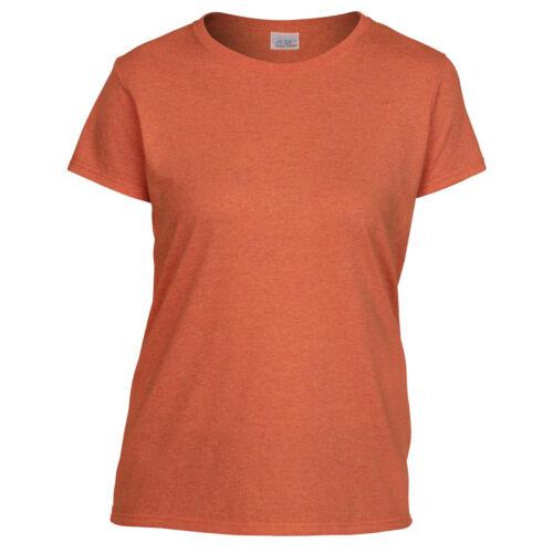 GILDAN señoras de mujer de Algodón Pesado Manga Corta Camiseta Camiseta Camiseta GD95