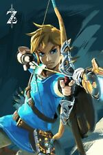 POSTER ZELDA BREATH OF THE WILD LEGEND OF GAME VIDEOGAME LINK EPONA FOTO #9