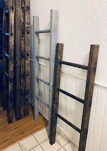 4 Foot Rustic Blanket Ladder Towel Ladder Farmhouse Decor Multiple Stains Ebay