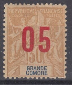GRANDE-COMORE-VARIETE-SURCHARGE-ESPACEE-N-25A-NEUF-GOMME-AVEC-CHARNIERE