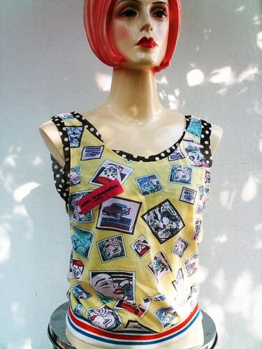 Süsses Designer MADE IN PARADISE Comic TANK TOP SHIRT S