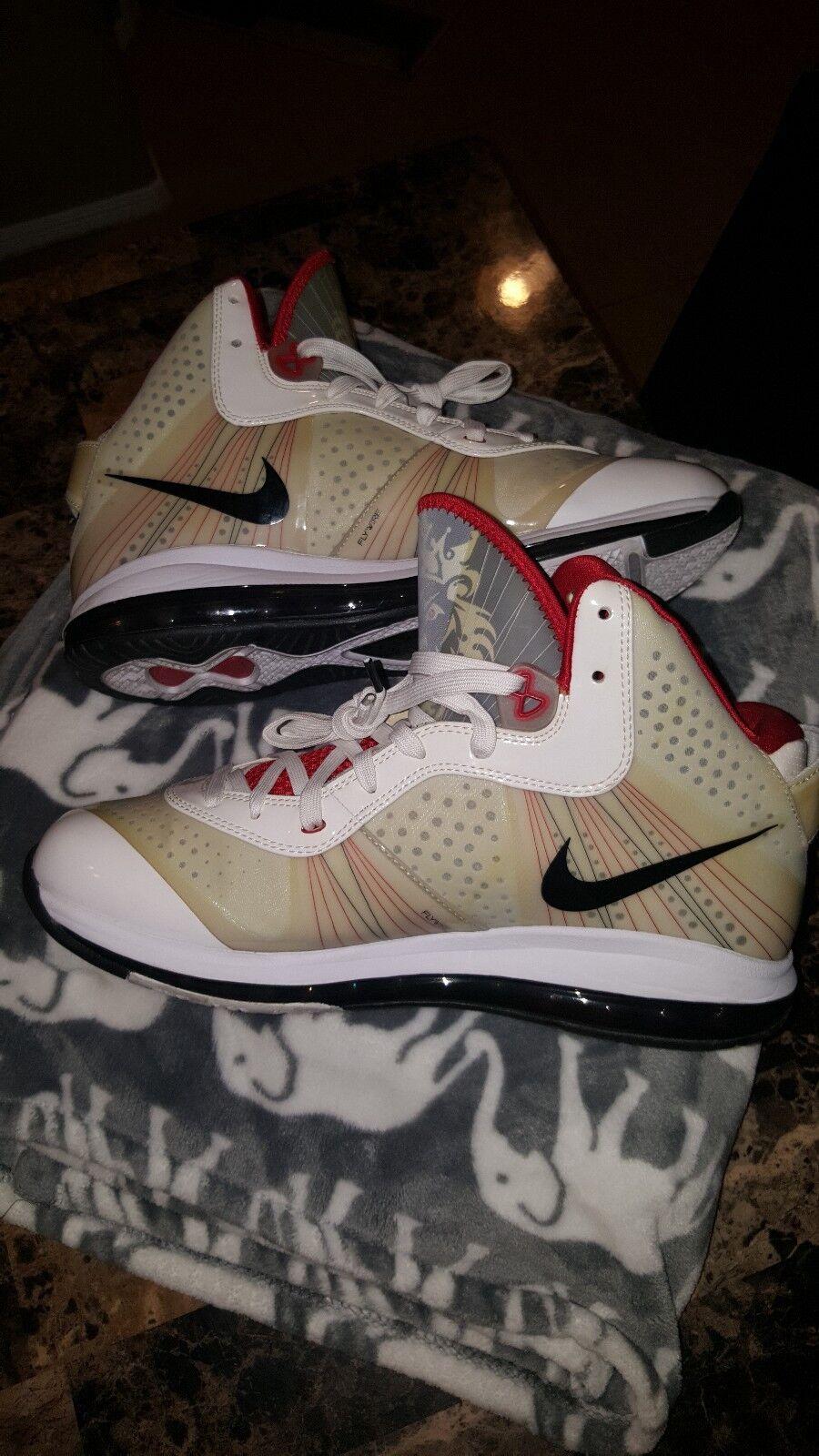Men's Nike LeBron 8 White size 11.5