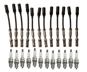 12 Sets Ignition Wire Cable Premium /& Spark Plug NGK Original Mercedes 112 V6