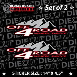 *NEW* 4X4 OFFROAD DECAL STICKER F150 XTR S10 SILVERADO  TITAN TRITON VORTEC 739