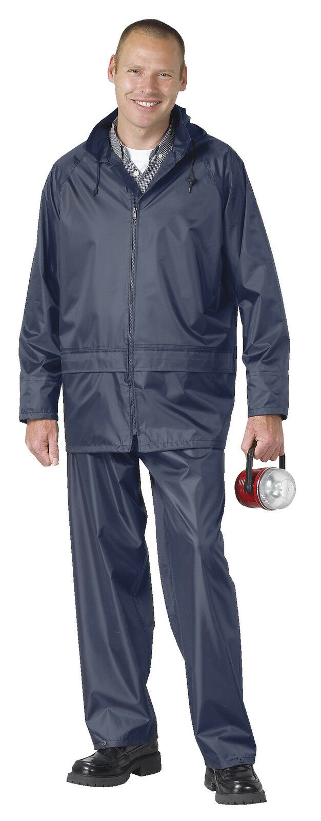 Lightweight 2 Jacket Piece Rain Suit Waterproof Jacket 2 & Trousers - Unisex 41cdb8