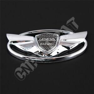 Genesis Car Logo >> 3d Chrome Hyundai Genesis Coupe Logo Car Front Hood Grille Rear