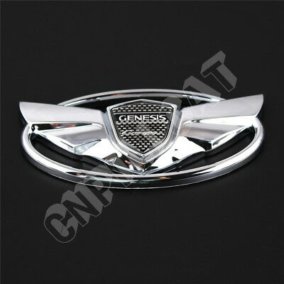 Genesis Car Logo >> 3d Chrome Hyundai Genesis Coupe Logo Car Front Hood Grille Rear Emblem Sticker 647336446067 Ebay