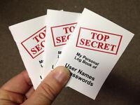Three (3) Top Secret Password Organizer Booklets