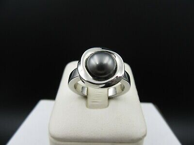 Learned M974 ⭐⭐ Ring With A Pearl Stainless Steel Size Other Fine Rings 51 ⭐⭐ Promote The Production Of Body Fluid And Saliva