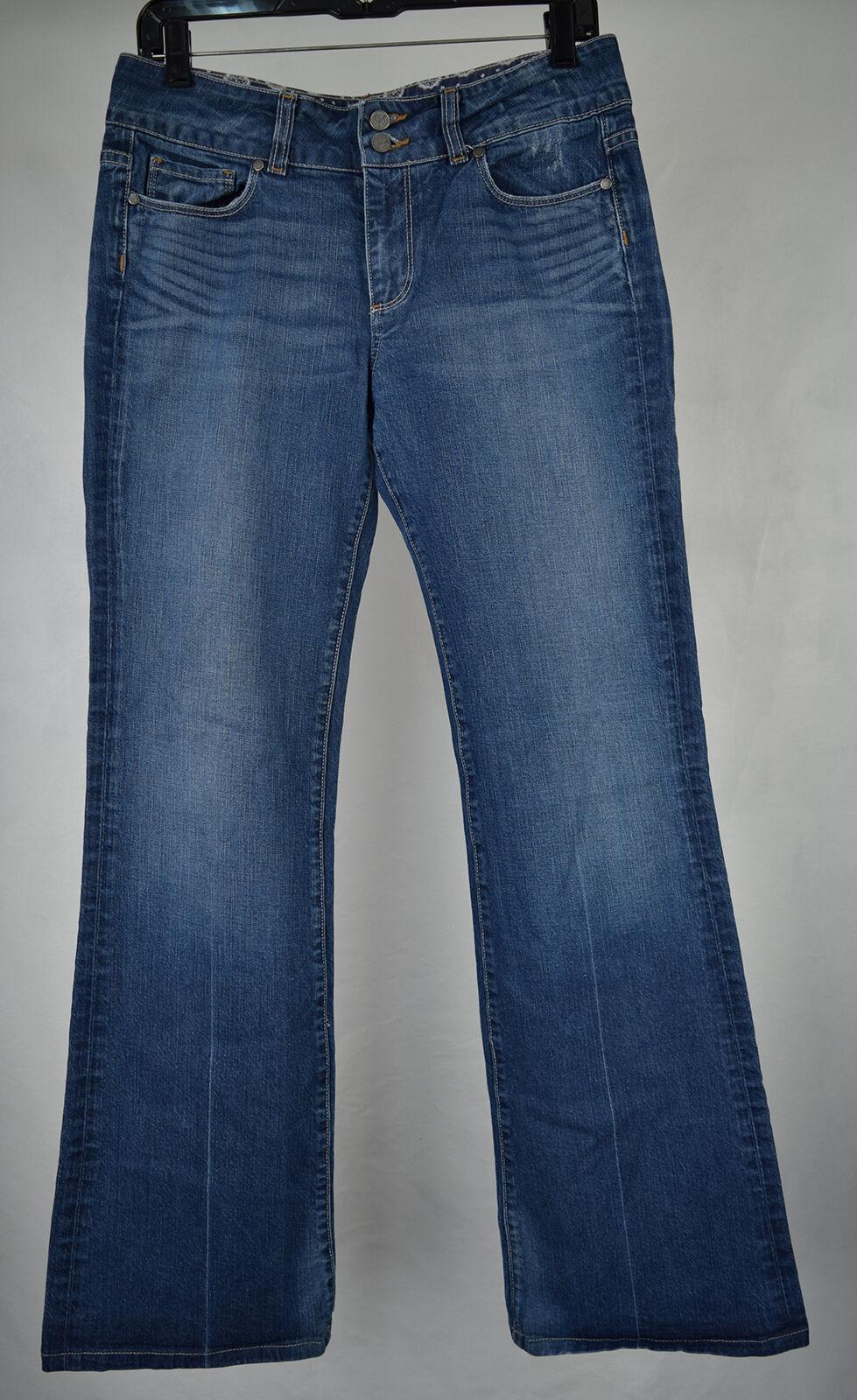 Paige Hidden Hills Eyeshadow Crease bluee Stretch Denim Jeans 30 USA Bootcut