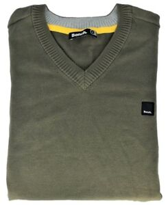 Jersey-Sweater-Bench-Man-V-Neck-Greenfinch-Sweater-Men-Army