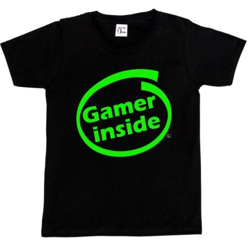 1Tee Kids Boys Gamer Inside T-Shirt