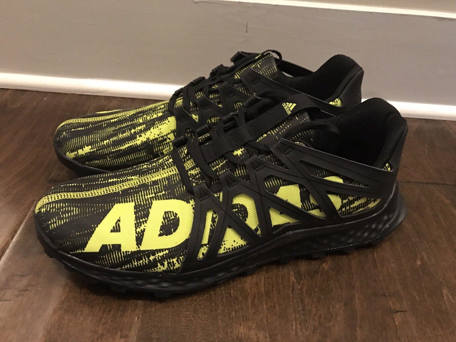 Adidas Men's Size 13 Vigor Bounce Trail shoes BB8380 Black Yellow - New