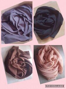 Chiffon-Scarf-Hijab-High-Quality-Elegant-Sarong-Shawl-Wrap-Plain-Maxi-Soft